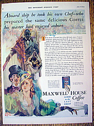 1930 Maxwell House Coffee With Man & Woman