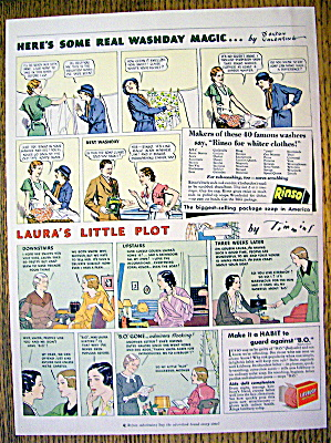 1934 Rinso & Lifebuoy Soap With Laura's Little Plot