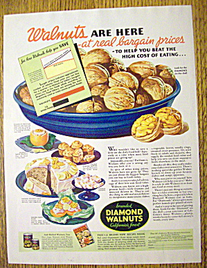 1935 Diamond Walnuts With Ways To Use Nuts