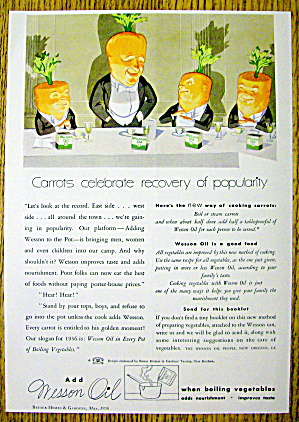 1936 Wesson Oil with Carrot Heads Speaking (Image1)