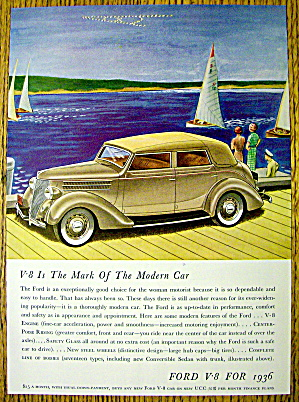 1936 Ford with The Mark Of A Modern Car V-8 (Image1)