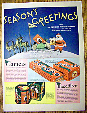 1936 Camel Cigarettes with Santa Claus Holding Pack (Image1)
