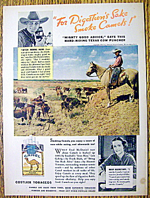 1937 Camel Cigarettes With Fred Mcdaniel