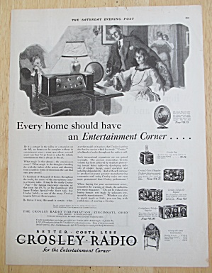 1925 Crosley Radio With The Entertainment Corner
