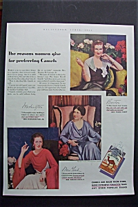 1934 Camel Cigarettes with Three Women (Image1)