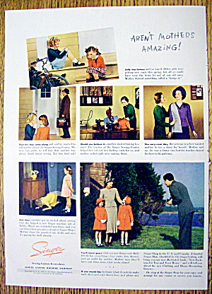 1938 Singer Sewing Machine with 2 Little Girls (Image1)
