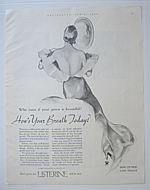 1934 Listerine with Back Side of a Woman in a Dress (Image1)