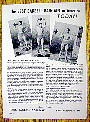 1948 York Barbell Co. with Jules Bacon (Mr. America) (Image1)