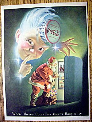 1948 Coca Cola (Coke) with Santa Opening Refrigerator (Image1)