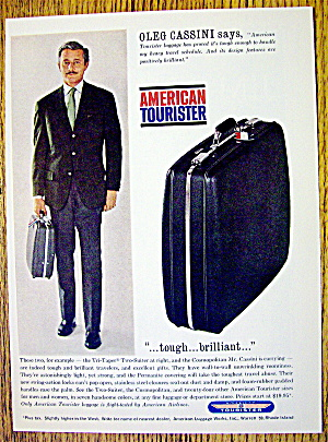 1963 American Tourister Luggage With Oleg Cassini