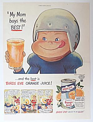 1950 Birds Eye Orange Juice With Boy Smiling (Image1)