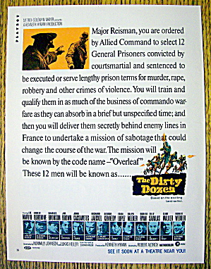 1967 The Dirty Dozen W/lee Marvin, Telly Savalas & More