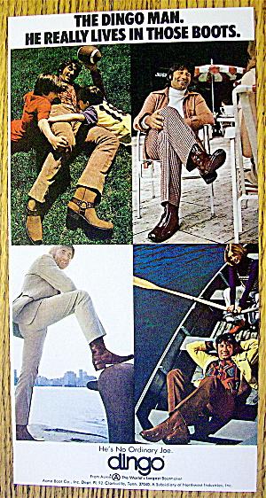 1972 Dingo Boots with Football's Joe Namath (Image1)
