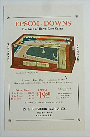 1932 In & Out Door Games with Epsom Downs Race Game (Image1)