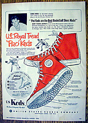 1953 U.S. Royal Tread Pro Keds with George Mikan (Image1)