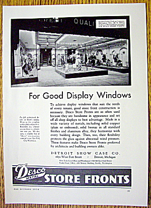 1930 Desco Metal Store Fronts with Store Display Window (Image1)