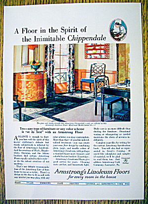 1930 Armstrong Linoleum Floor with Chippendale (Image1)