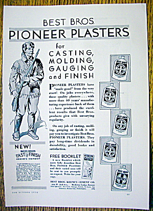 1930 Pioneer Plaster with a Pioneer Man (Image1)