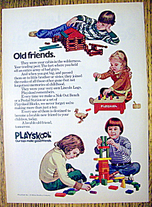 1974 Playskool Toys With Lincoln Logs & Blocks