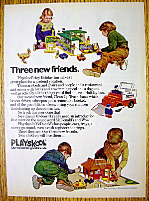 1974 Playskool Toys With Holiday Inn & Mcdonald's