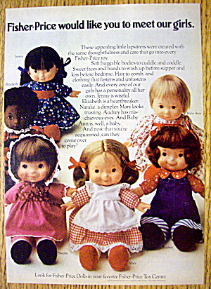1974 Fisher Price Dolls with 6 Dolls (Image1)