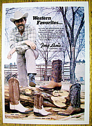 1974 Tony Lama Boots with Ken Curtis (Image1)