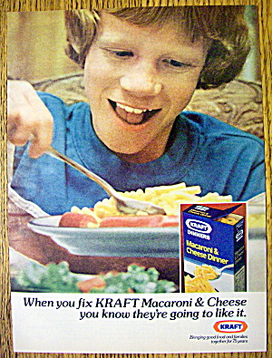 1978 Kraft Macaroni & Cheese With Boy Eating