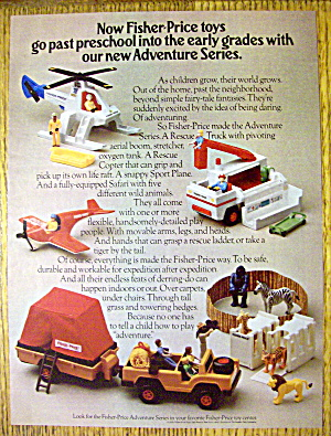 1975 Fisher Price Toys With Adventure Series Toys