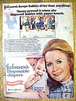 1977 Johnson's Diapers with Juliet Mills (The Nanny) (Image1)