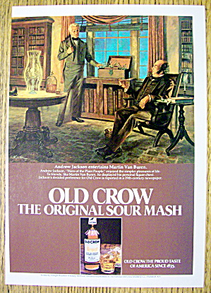 1980 Old Crow Whiskey With Andrew Jackson