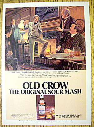 1980 Old Crow Whiskey With Mark Twain