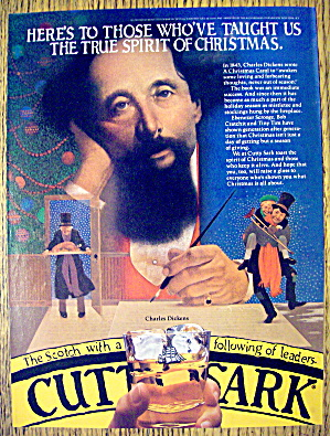 1981 Cutty Sark Whiskey With Charles Dickens