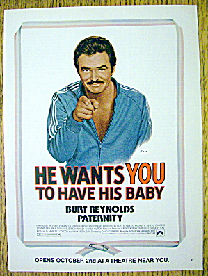 1981 Paternity With Burt Reynolds By Lettick