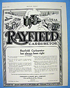 1913 Rayfield Carburetor With 2 Cars