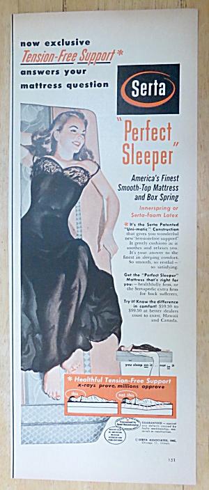 1952 Serta Perfect Sleeper w/ Woman Laying on Mattress (Image1)