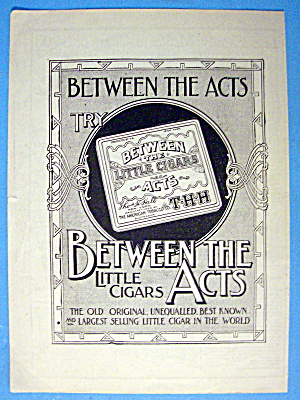 1901 Between The Act 2 Cigars With Box Of Cigars