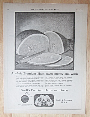 1922 Swift Premium Ham with Whole Sliced Ham  (Image1)