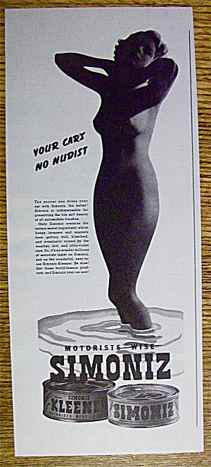 1937 Simoniz with Lovely Woman's Silhouette (Image1)