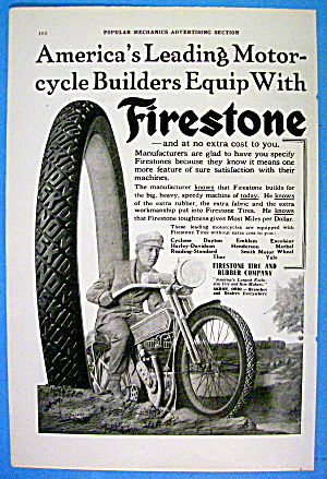 1916 Firestone Tires with Motorcycle (Image1)
