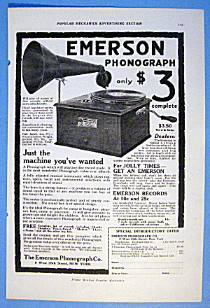 1916 Emerson With Emerson Phonograph