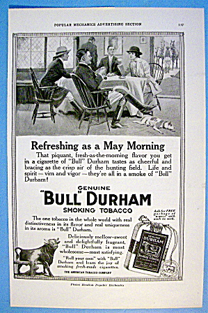 1916 Bull Durham Tobacco With People Around Table