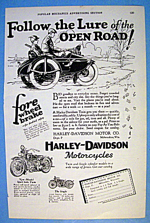 1927 Harley Davidson with Men on Motorcycle (Image1)