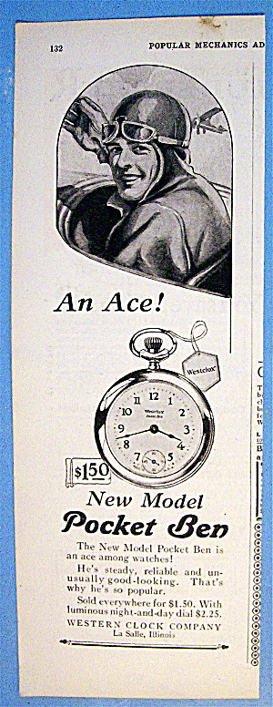 1927 Pocket Ben Watch with Airplane Pilot (Image1)