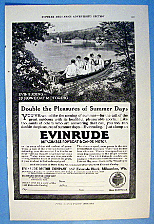 1916 Evinrude Rowboat Motors With People In A Boat