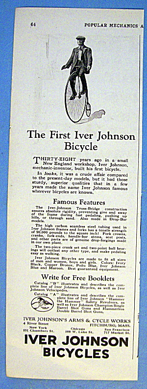 1924 Iver Johnson Bicycle W/ First Iver Johnson Bicycle