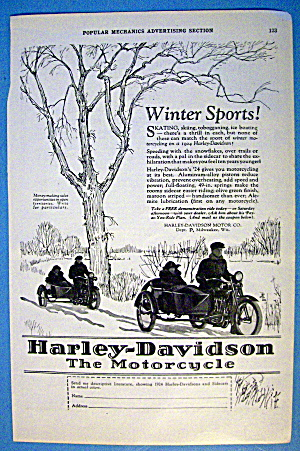 1924 Harley Davidson with Couples In Motorcycles (Image1)