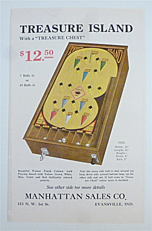 1932 Manhattan Sales Company with Treasure Island Game (Image1)