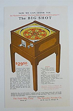 1932 Hercules Novelty with The Big Shot Pin Game (Image1)