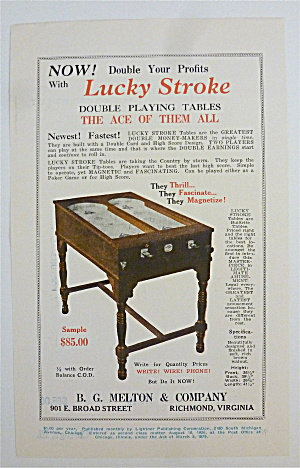 1932 B. G. Melton & Co. with Lucky Stroke Game  (Image1)