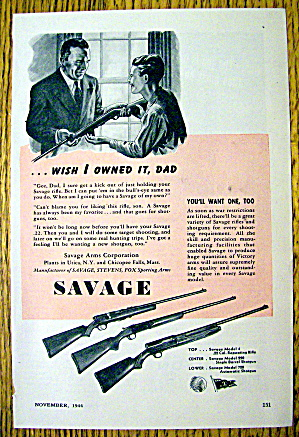 1944 Savage Arms With 3 Different Guns